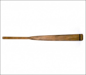 This lifeboat oar, branded 'Lusitania', was picked up off the Kilkee coast, Co. Clare, about 20 August 1915. (All images: National Museum of Ireland)