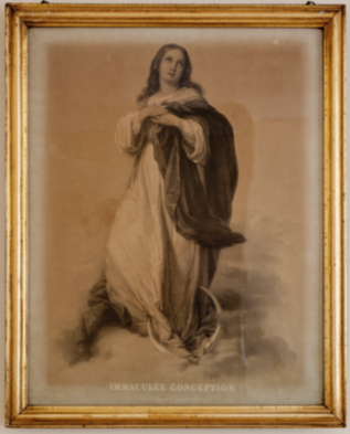 The large framed picture of the Immaculate Conception sent to Daniel Doyle by William Smith O'Brien from Brussels.