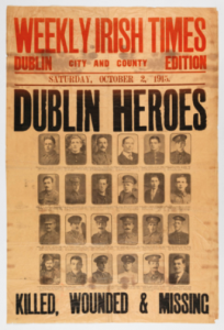 Left: 'Dublin heroes'? Unfortunately for them, the crucible of the Irish nation was to be elsewhere and at another time. (NMI)