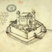 A 1590s image of Burt Castle, Co. Donegal. (NAI)