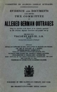 The report, or Blue Book, by the committee investigating alleged German outrages is widely acknowledged to have been very influential in turning international opinion against Imperial Germany, especially in the United States.
