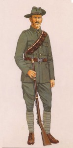 A typical Volunteer in uniform, as sketched by B. Younghusband in Irish Volunteer Soldier 1913–23 (Osprey Publishing, 2003).