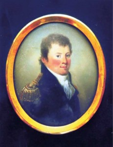 A miniature of Captain Watson, c. 1800–10, attributed to James Leakey. (Mrs Julian Pope)