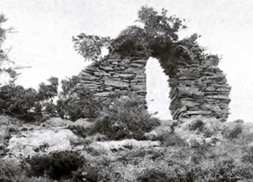 A photograph of the arch that appeared in the Journal of the Cork Historical and Archaeological Society, Series 2, Vol. III, 1897.