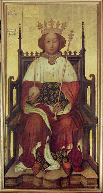 King Richard II c. 1395, just after his return from the first expedition to Ireland. (Bridgeman Library)