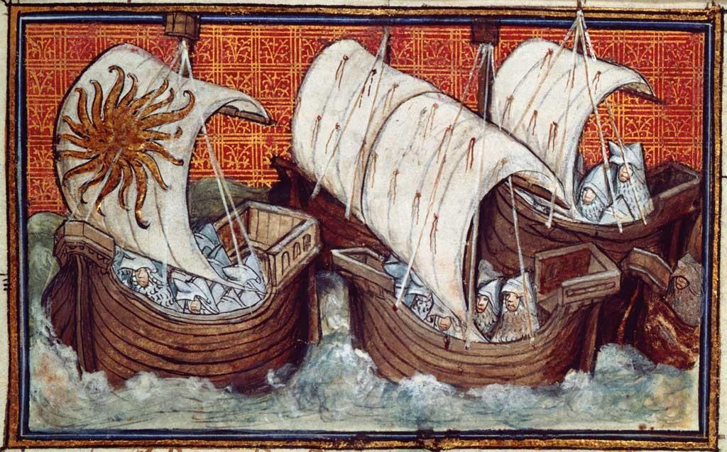 King Richard II's fleet sails from Ireland.,