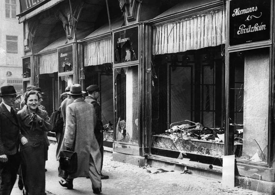Kristallnacht, Berlin, 1938—Bewley's superiors grew worried as his dispatches became increasingly anti-Semitic and pro-Nazi in tone, culminating in a report defending Kristallnacht.