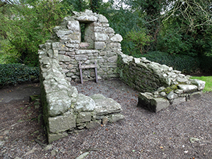 Above: St Mullins, Co. Carlow—among the many ruins you will find a small chapel dedicated to St James.