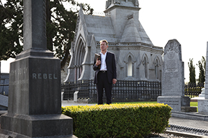 Above: Michael Portillo at the Glasnevin graveside of 'rebel' John Devoy in RTÉ's The Enemy Files (21 March). While elements in British public life don't seem to have entirely forgiven us for 1916, Michael Portillo did an admirable job of both getting to grips with it and exploring the Easter Rising from a British perspective. (RTÉ)