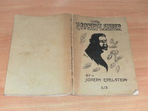 Above: The cover of Joseph Edelstein's controversial novel, The moneylender. (NLI)