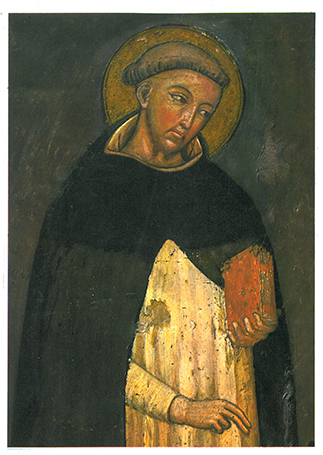 Above: Dominic de Guzmán—his Order of Preachers arose in direct opposition to Catharism.
