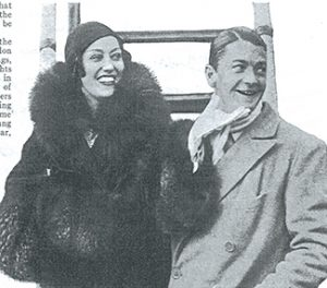 Above: Corkman Michael Farmer (right), briefly married to American film actress Gloria Swanson (left) in the early 1930s, was arrested for collaboration in November 1944 but convinced the French authorities that it consisted in little more than debauched drinking sessions with the local Gestapo; the case against him was dropped in September 1945. (Photoplay, February 1932)