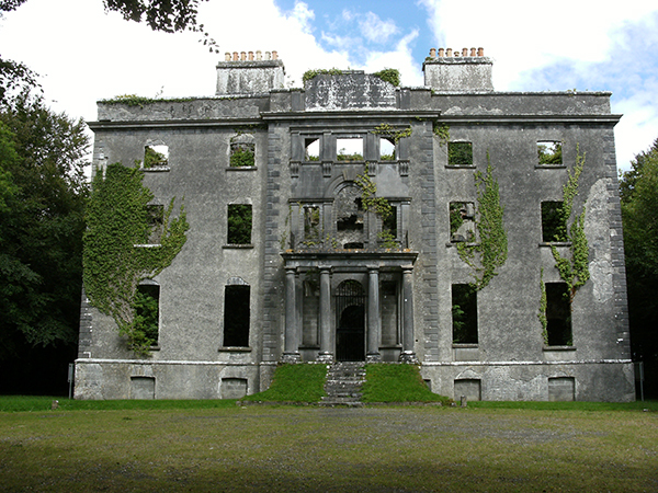 Above: The family seat, Moore Hall, Carra, Co. Mayo, today.