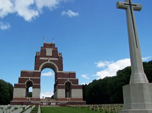 Above: The Thiepval Memorial near the towns of Albert and Bapaume, site of a major ceremony held each year on 1 July to commemorate the Battle of the Somme. (Commonwealth War Graves Commission)