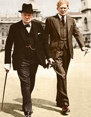 Above: Winston Churchill and Brendan Bracken—'a party of two'. (Little Museum of Dublin)