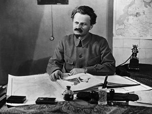 Above: Leon Trotsky, an occasional dinner guest at Monsieur Froissard's West Side boarding house. This Mr Bronstein, a 'bright, intent little man', Mary Colum later recalled, became 'of all things' the head of an army.