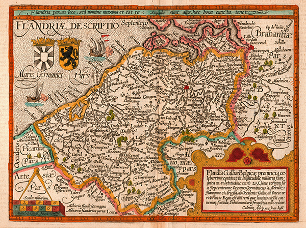 Above: Flanders in the seventeenth century—its early predominance was lost when the Irish linen industry took off in the 1780s.